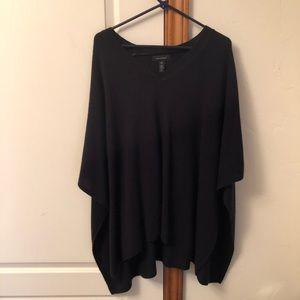 Halogen brand v-neck cashmere sweater cape